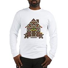 Cute Gingerbread House Christmas Long Sleeve T-Shi