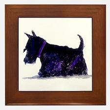 Unique Scottie dog Framed Tile