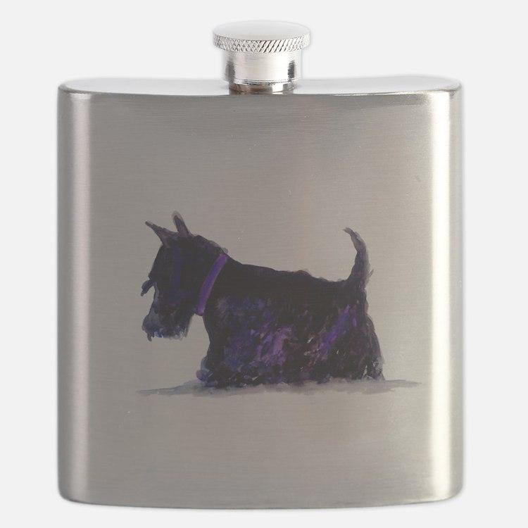 Cute Scottie dog Flask
