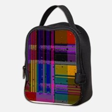 Unique Red and purple Neoprene Lunch Bag