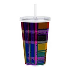Cool Red plaid Acrylic Double-wall Tumbler