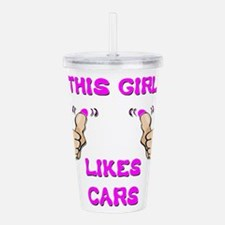 This Girl Likes Cars Acrylic Double-wall Tumbler