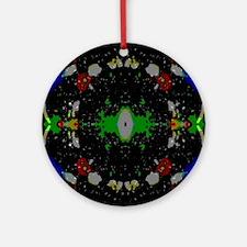 Unique Theta Round Ornament