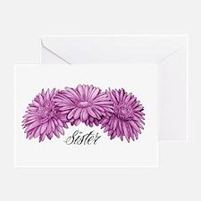 Flowers Sister Greeting Card