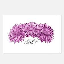 Flowers Sister Postcards (Package of 8)