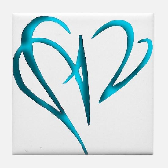Heart Skewer Tile Coaster