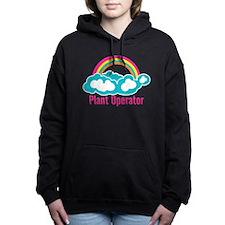Rainbow Cloud Plant Oper Women's Hooded Sweatshirt