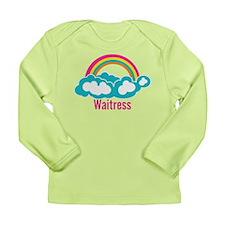 Rainbow Cloud Waitress Long Sleeve Infant T-Shirt