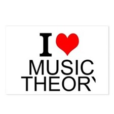 I Love Music Theory Postcards (Package of 8)