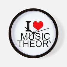 I Love Music Theory Wall Clock