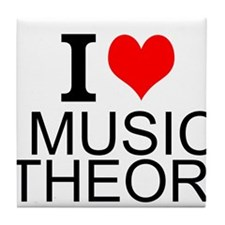 I Love Music Theory Tile Coaster