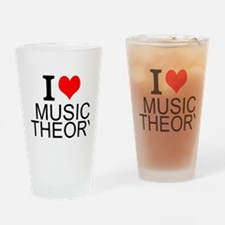 I Love Music Theory Drinking Glass