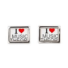 I Love Music Theory Rectangular Cufflinks