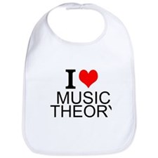 I Love Music Theory Bib