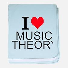 I Love Music Theory baby blanket