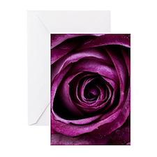 Purple Rose Greeting Cards