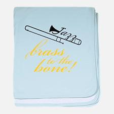 Brass To The Bone baby blanket