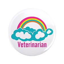 "Rainbow Cloud Veterinarian 3.5"" Button (100 pack)"