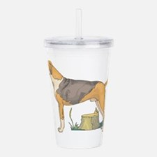 american-foxhound.png Acrylic Double-wall Tumbler