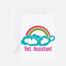Rainbow Veterinary Assistant Greeting Card