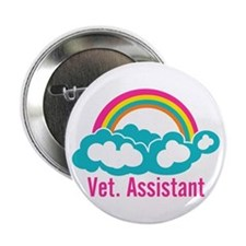 "Rainbow Veterinary Assistant 2.25"" Button"