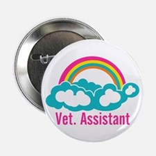 """Rainbow Veterinary Assistant 2.25"""" Button"""