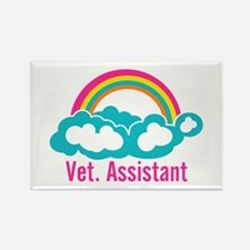 Rainbow Veterinary Assi Rectangle Magnet (10 pack)