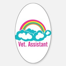 Rainbow Veterinary Assistant Decal