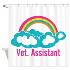 Rainbow Veterinary Assistant Shower Curtain