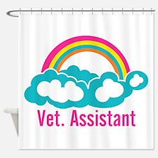 Rainbow Veterinary Assistant Shower Curtain