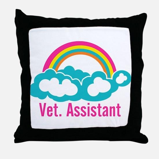 Rainbow Veterinary Assistant Throw Pillow
