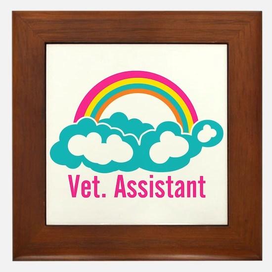 Rainbow Veterinary Assistant Framed Tile