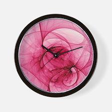 Cool Purple rose wall Wall Clock