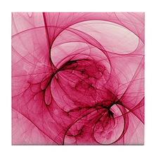 Cute Pink printed round Tile Coaster
