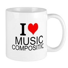 I Love Music Composition Mugs