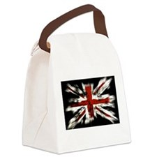 Cool Green american flag Canvas Lunch Bag