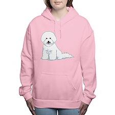 bichon-frise.png Women's Hooded Sweatshirt
