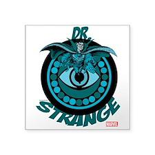 "Doctor Strange Blue Square Sticker 3"" x 3"""