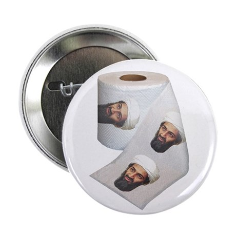 Osama Bin Laden Toilet Paper Button (10 pack)