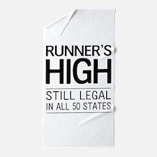 Runners high still legal Beach Towel