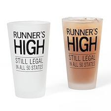 Runners high still legal Drinking Glass