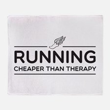 Running cheaper than therapy Throw Blanket