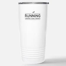 Running cheaper than therapy Travel Mug