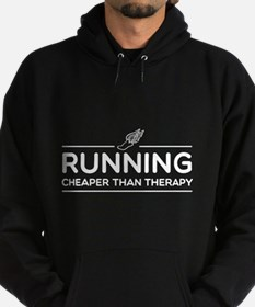 Running cheaper than therapy Hoodie