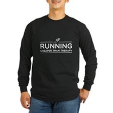 Running cheaper than therapy Long Sleeve T-Shirt