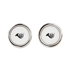 Jazz French Horn Round Cufflinks