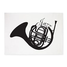 Jazz French Horn 5'x7'Area Rug
