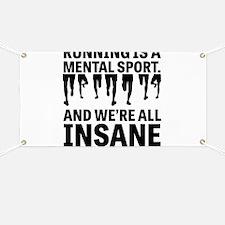 Running is a mental sport Banner