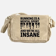Running is a mental sport Messenger Bag