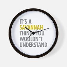 Its A Savannah Thing Wall Clock
